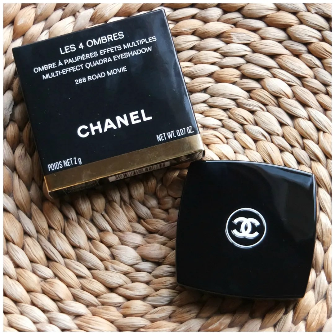 chanel les 4 ombres eyeshadow palette fall 2017 review swatch road movie