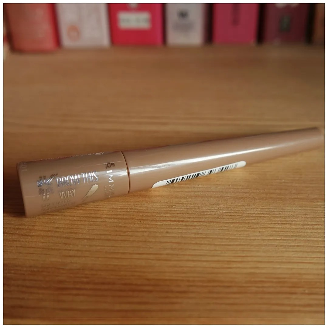 Rimmel Brow This Way brow powder review swatch light brown
