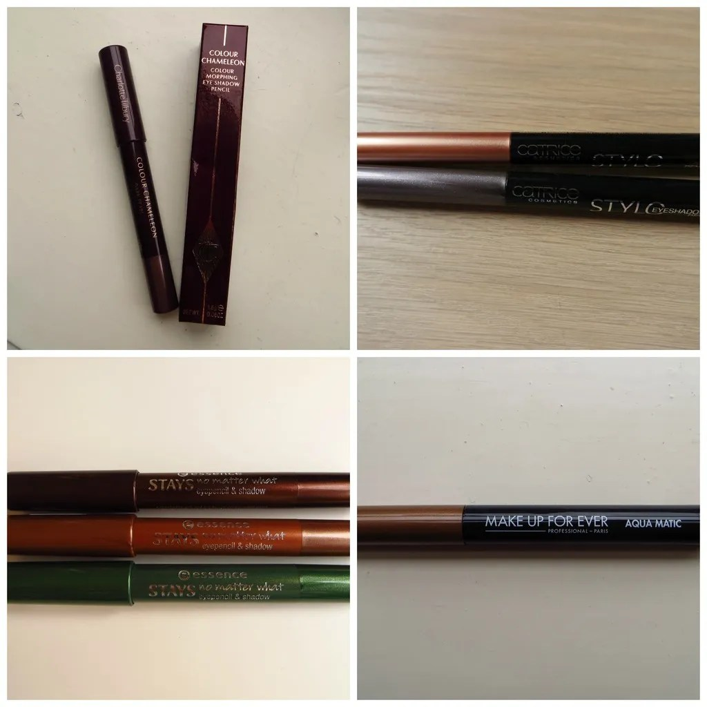 Catrice Stylo Eyeshadow Pen Charlotte Tilbury Colour Chameleon Colour Morphing Eyeshadow Pencil Essence Stays No Matter What Eyeshadow Pencil & Shadow Make Up Forever Waterproof Glide-On Eyeshadow