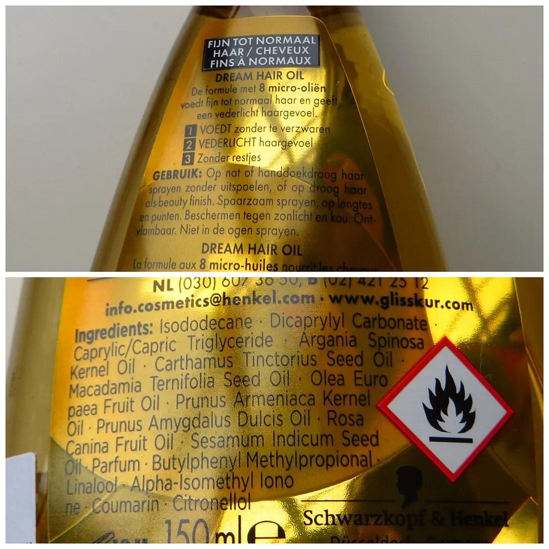 Gliss Kur Oil Nutrive Dream Hair hair oil