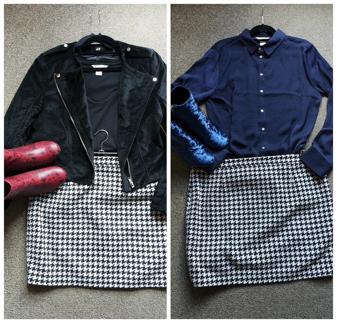 how I wear houndstooth pied-de-poule
