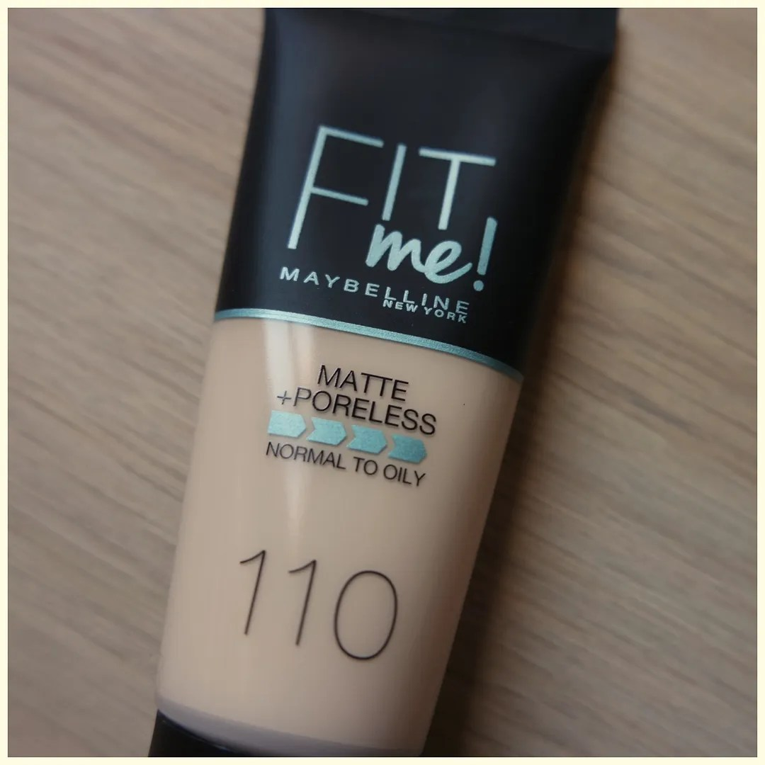 Maybelline Fit Me Matte + Poreless foundation 110 Porcelain review