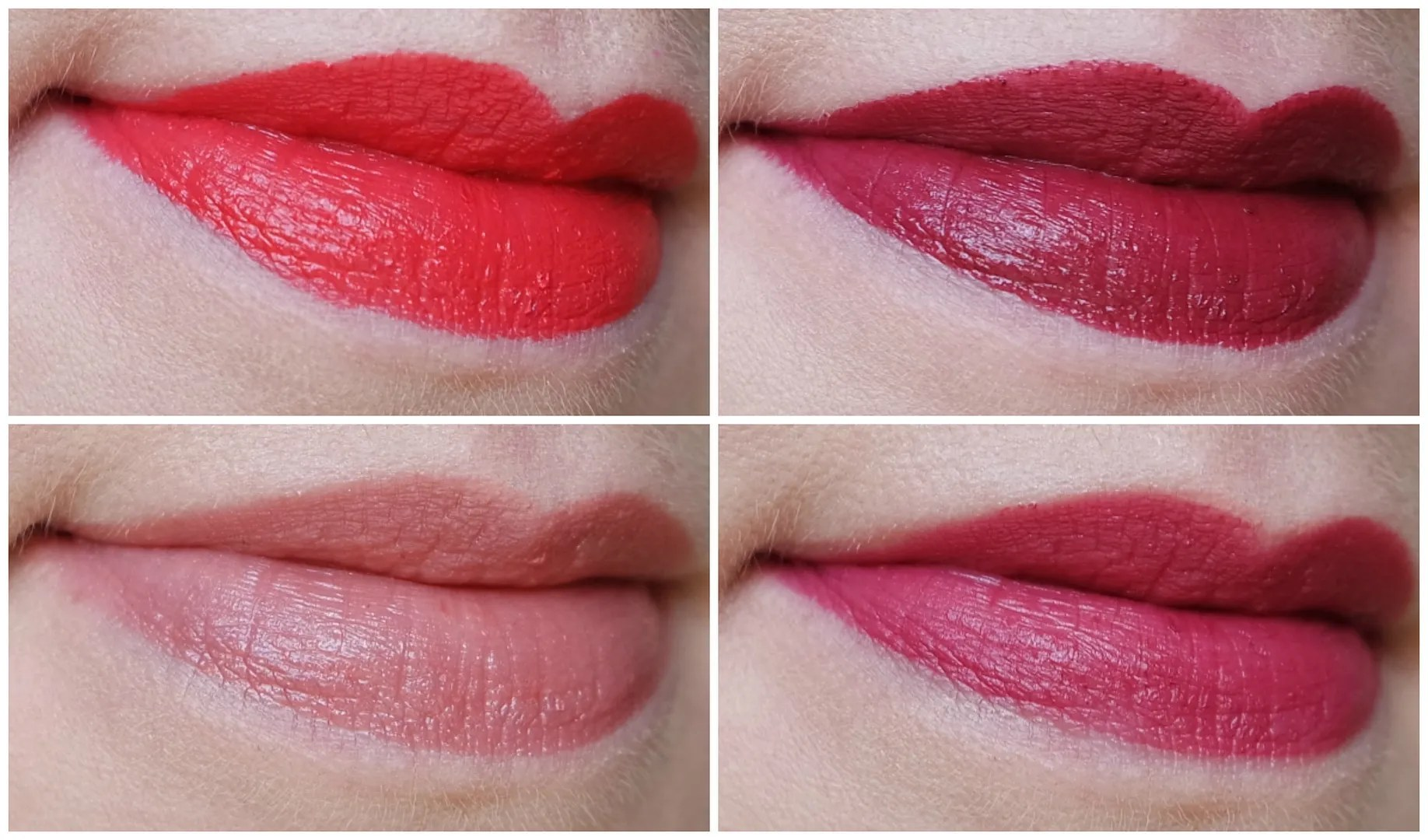 New Catrice lipsticks: EveryBARE and Nowhere, Don't Worry Be Berry, Hot N Spicy & Legend'Berry