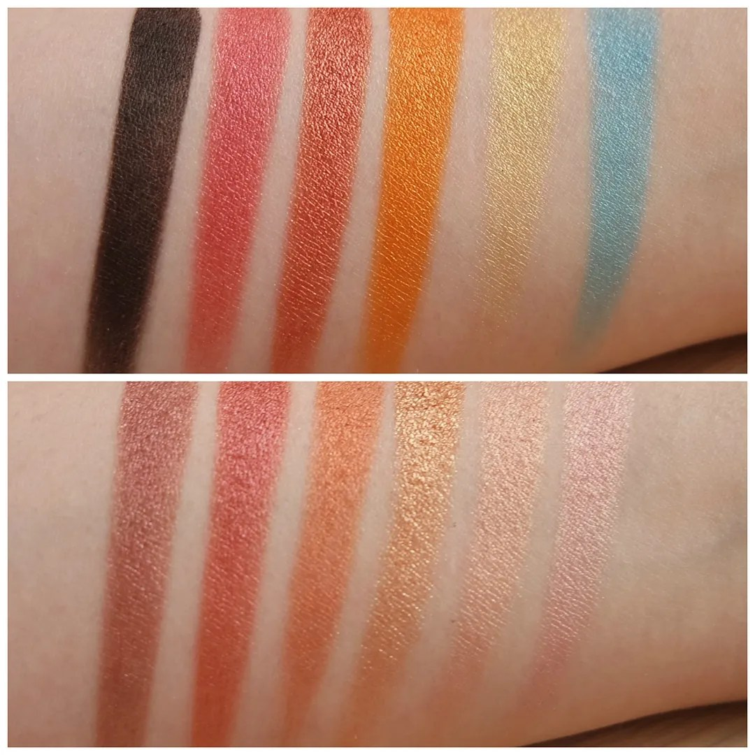 sleek I-divine eyeshadow palette sunset review swatch