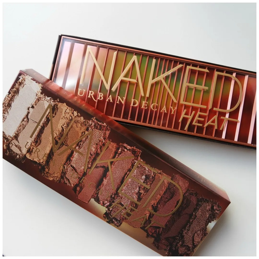 urban decay naked heat eyeshadow palette review swatch