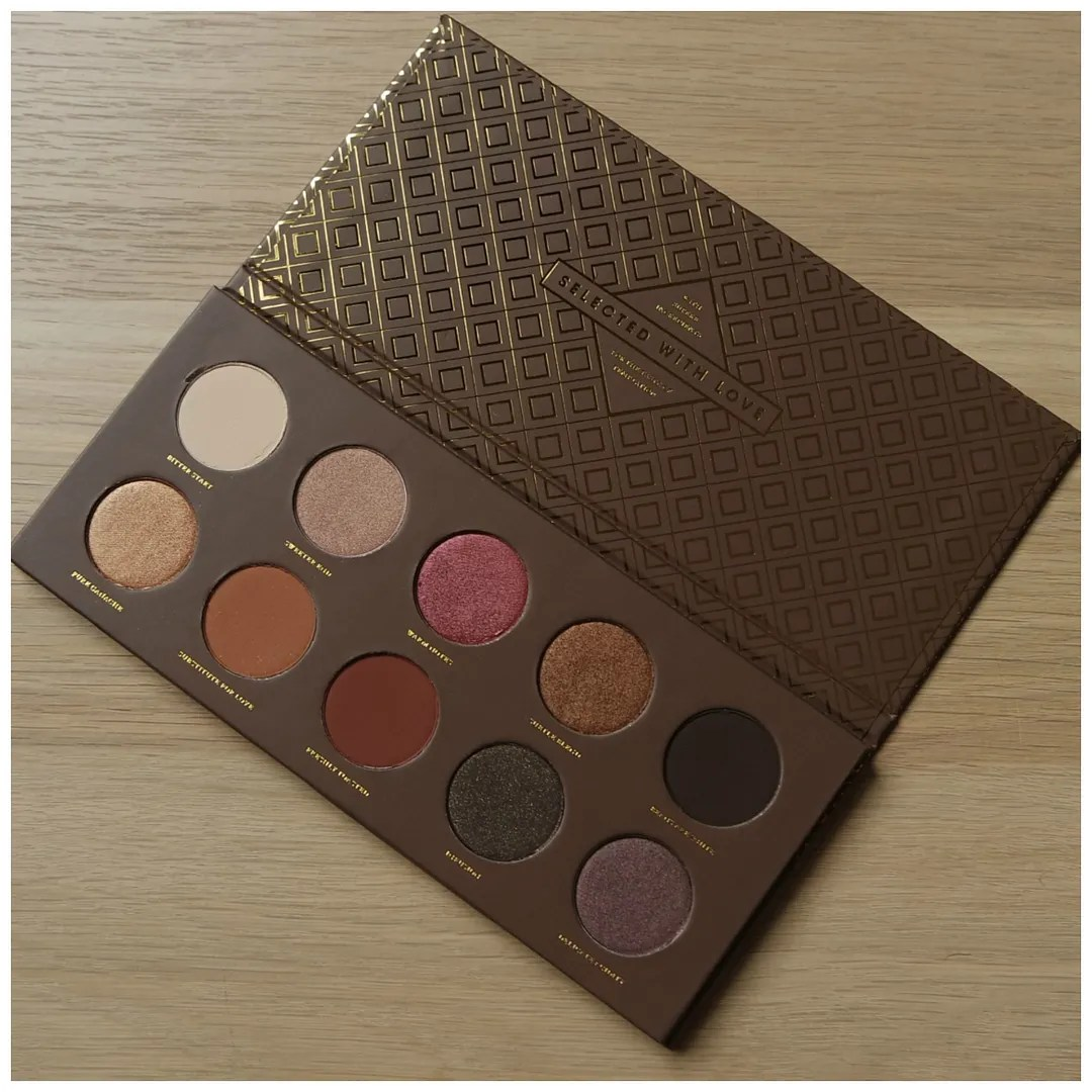 Zoeva Rose Golden & Cocoa Blend eye shadow palette review swatch