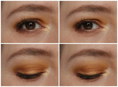 Zoeva Blanc Fusion look swatch eyeshadow palette
