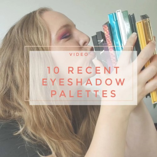 10 recent eyeshadow palettes I tried review swatch makeup look