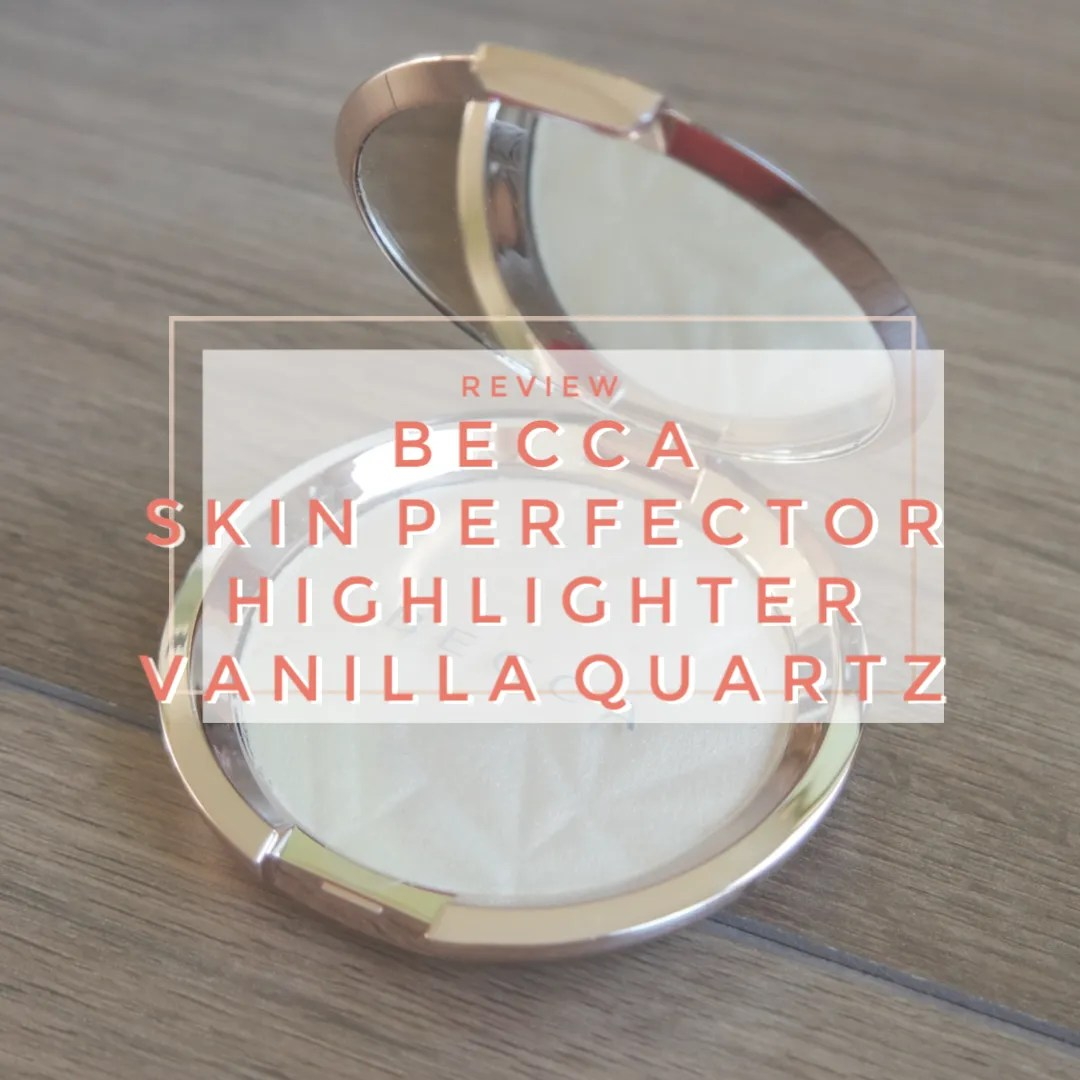 becca skin perfector pressed highlighter review swatch vanilla quartz