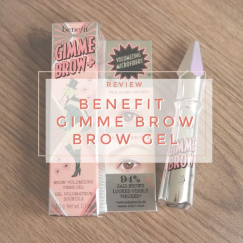 benefit gimme brow brow gel review swatch