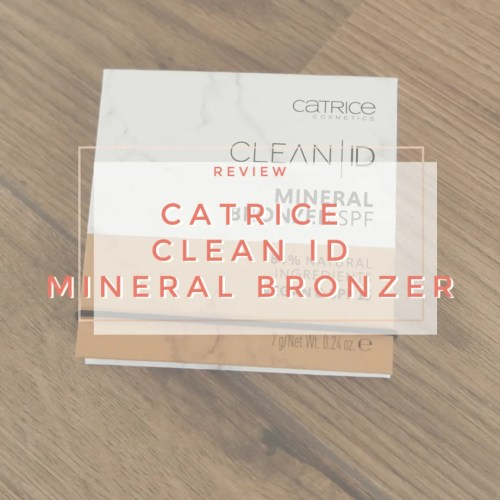 catrice clean id mineral bronzer light medium review swatch makeup look application