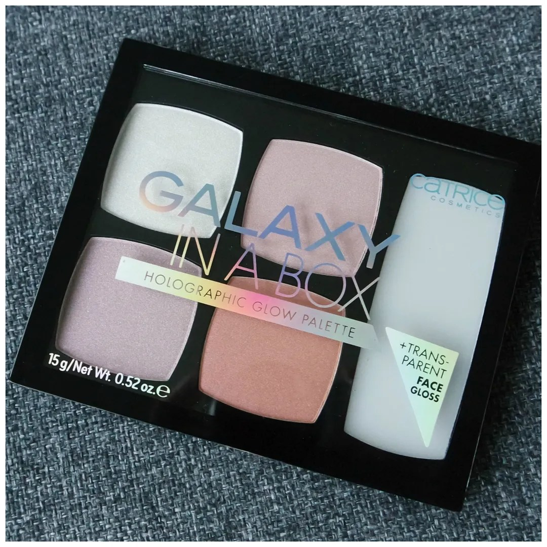 catrice galaxy in a box holographic highlighter palette review swatch