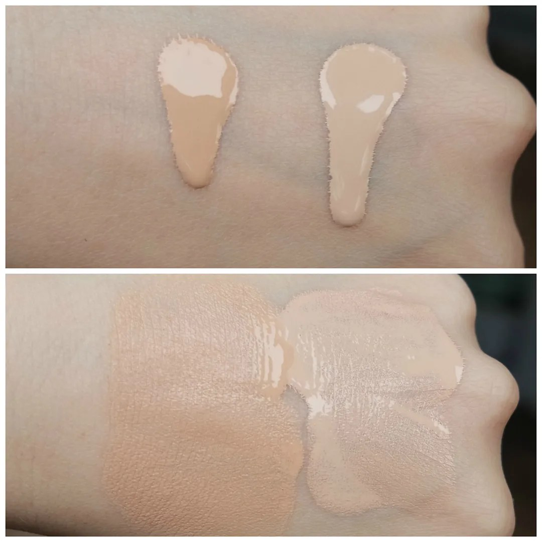 catrice hd liquid radiance foundation review swatch fair skin 010 Light Beige 005 Ivory Beige