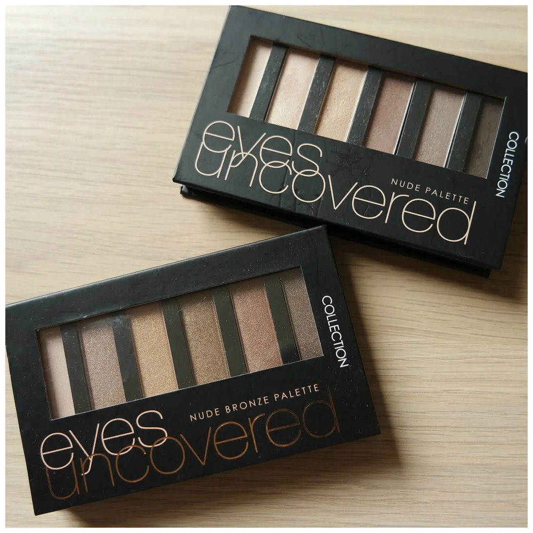 collection eyes uncovered eyeshadow palette nude nude bronze review swatch