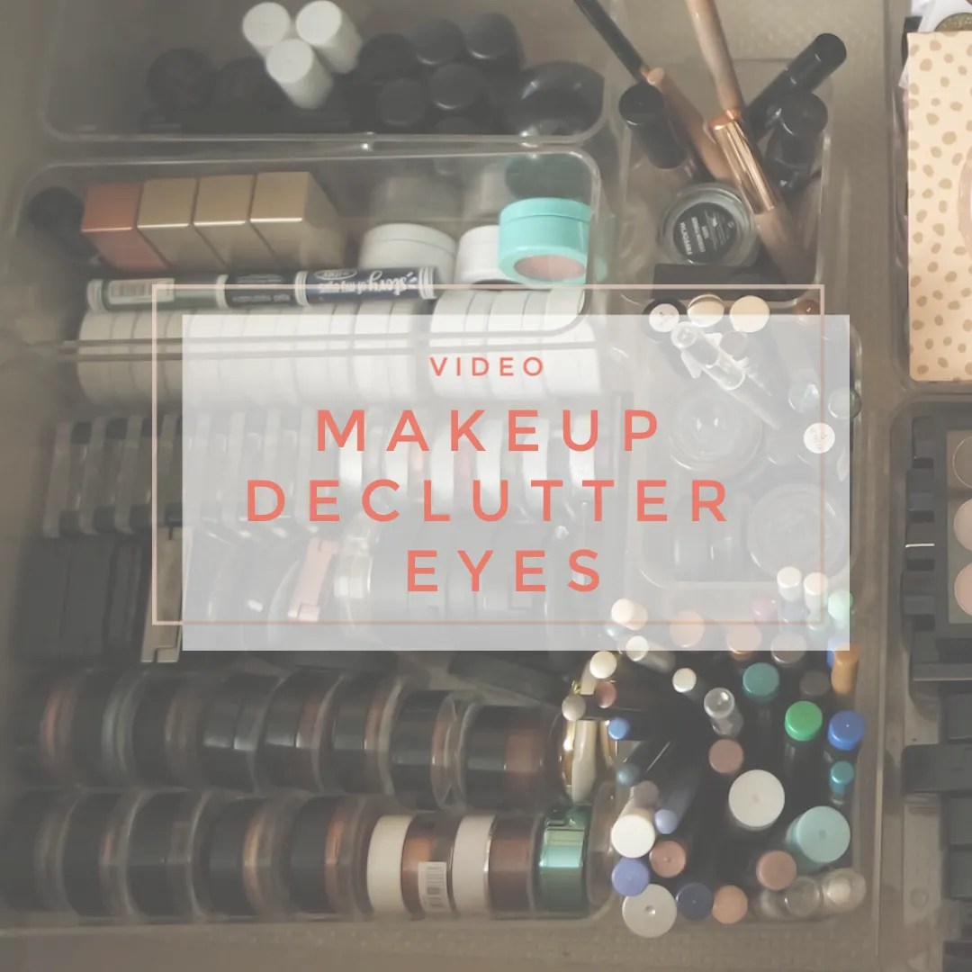 makeup declutter eyes