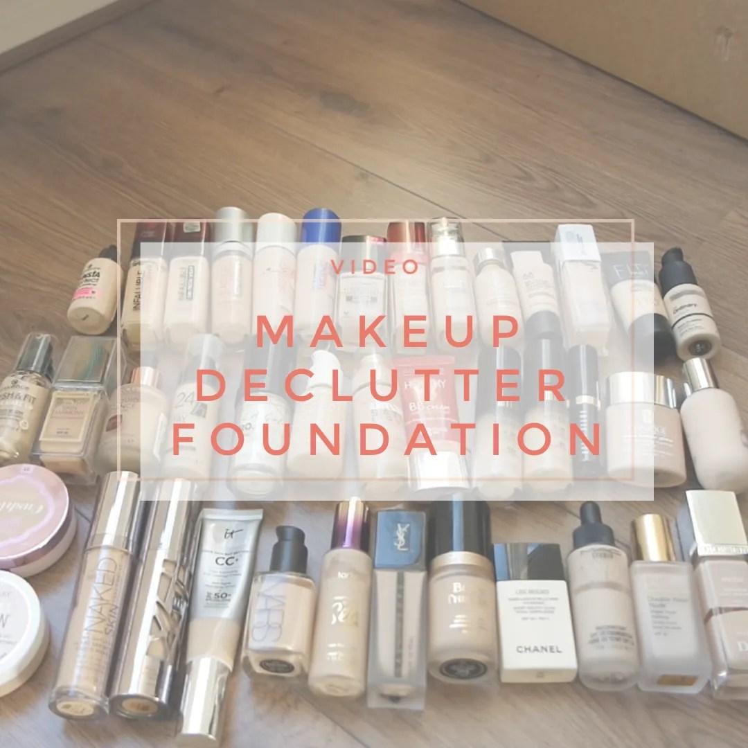 makeup declutter foundation 2019