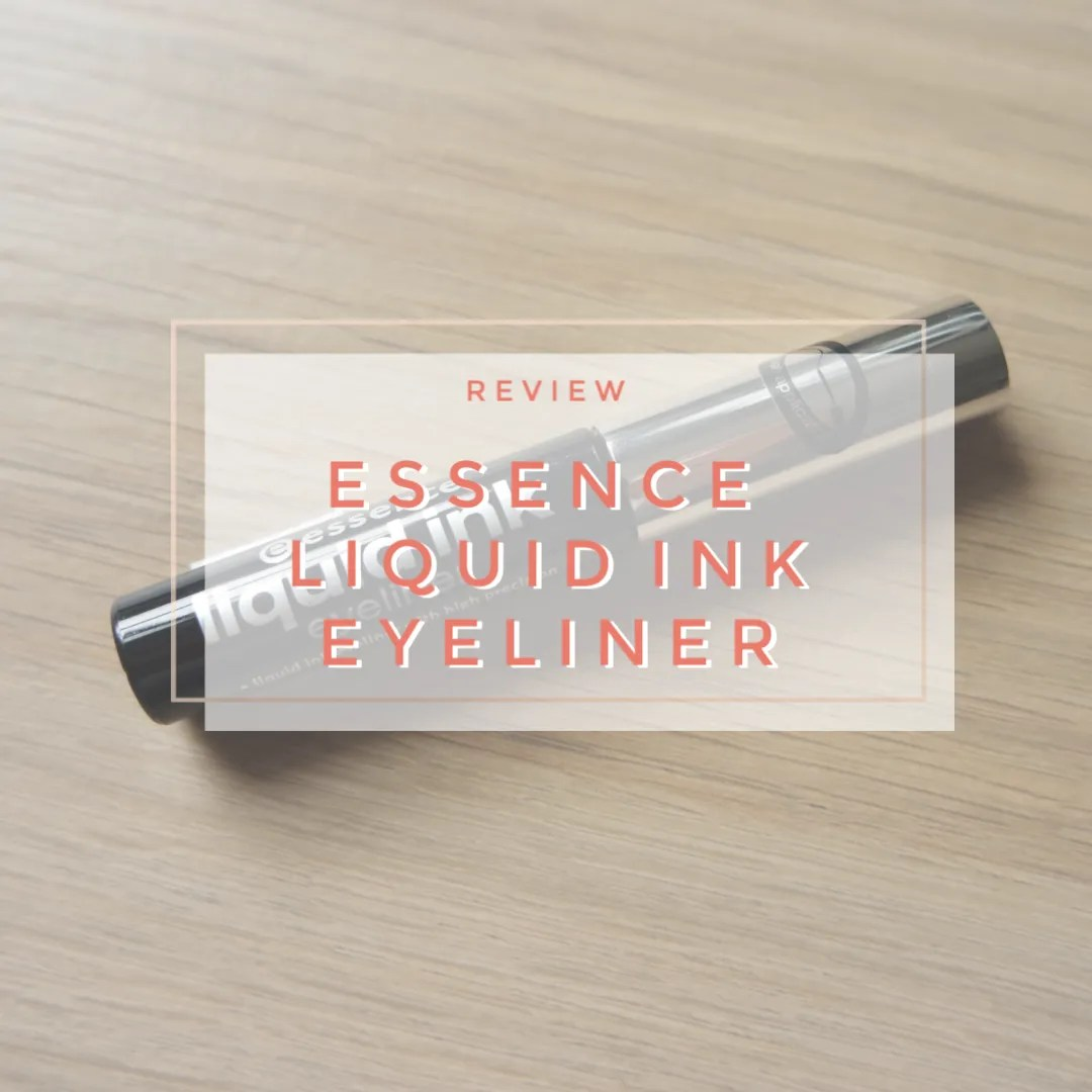essence liquid ink eyeliner review swatch applicator how to