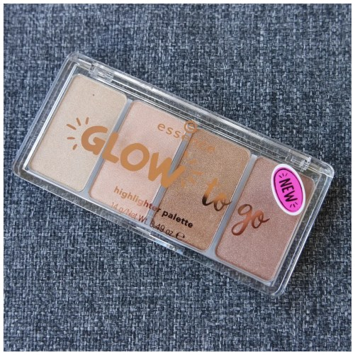 essence glow to go highlighter palette review swatch 10 sunkissed glow
