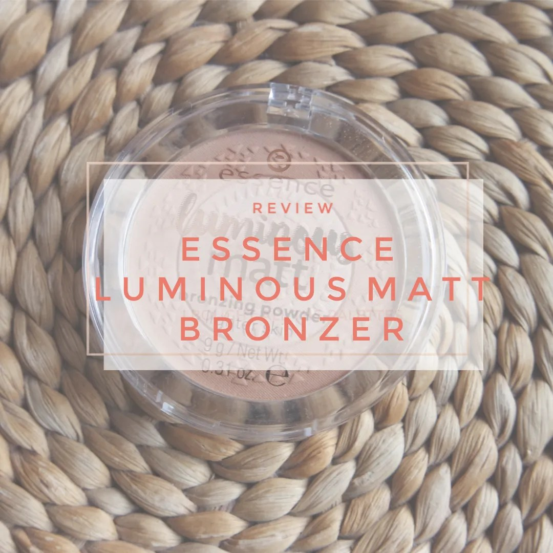 essence luminour matt bronzer lightest shade review swatch