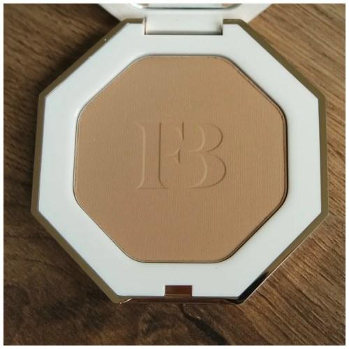 fenty beauty sun stalk'r bronzer inda sun fair skin dry skin review swatch makeup look application
