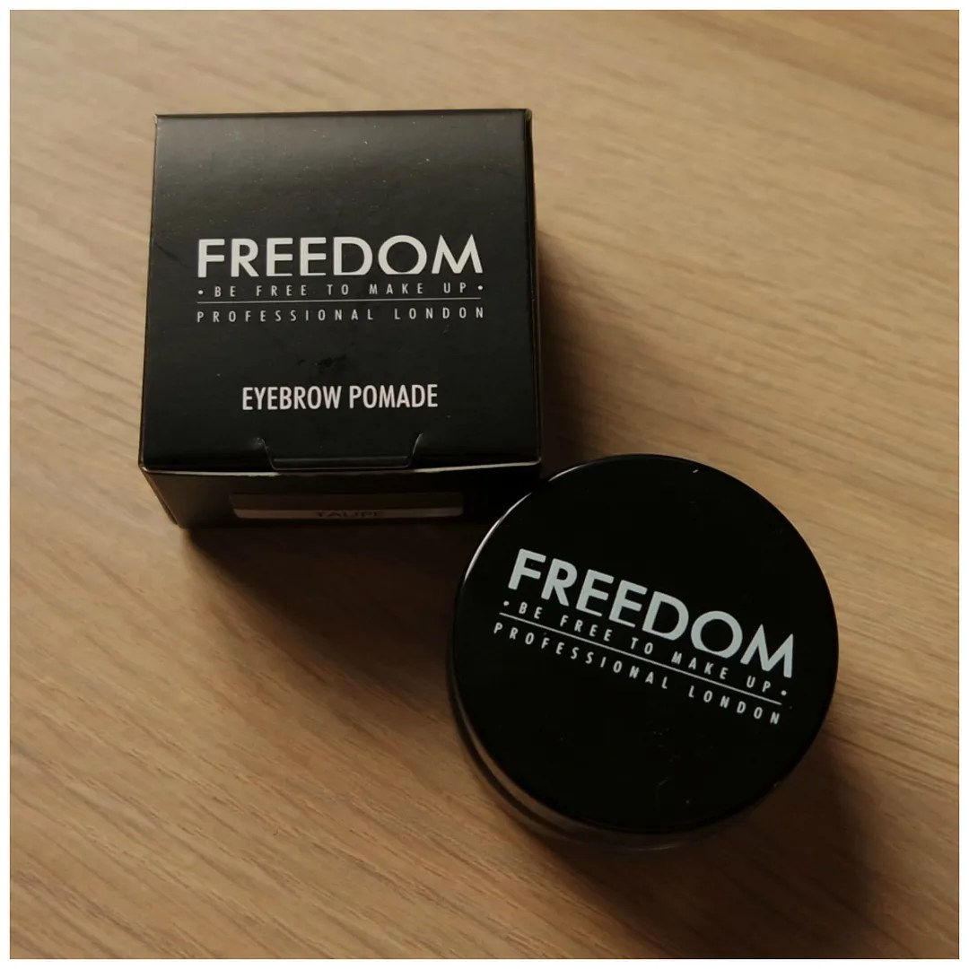 freedom brow pommade gel review swatch dupe drugstore
