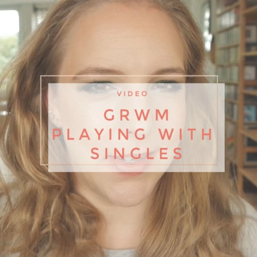 get ready with me playing with singles pr