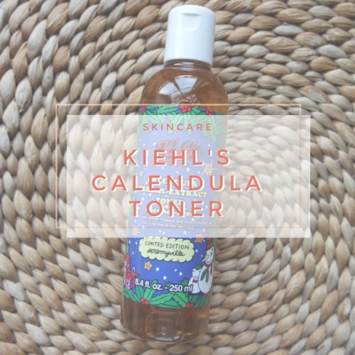 kiehl's herbal extract calendula toner alcohol free skincare review swatch