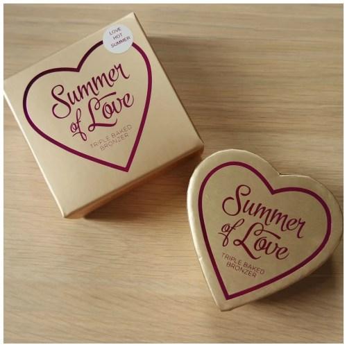 I heart make up summer of love bronzer love hot summer review swatch