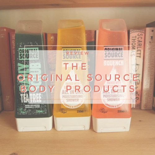 The Original Source bodycare products review daily scrub skin quench pineapple coconut watermelon jojoba tea tree