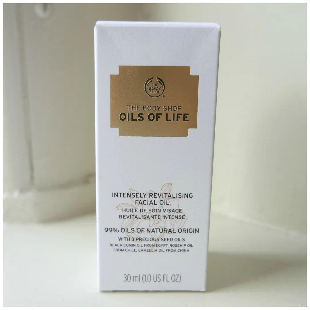 the body shop oils of life intensely revitalising facial oil review swatch skincare