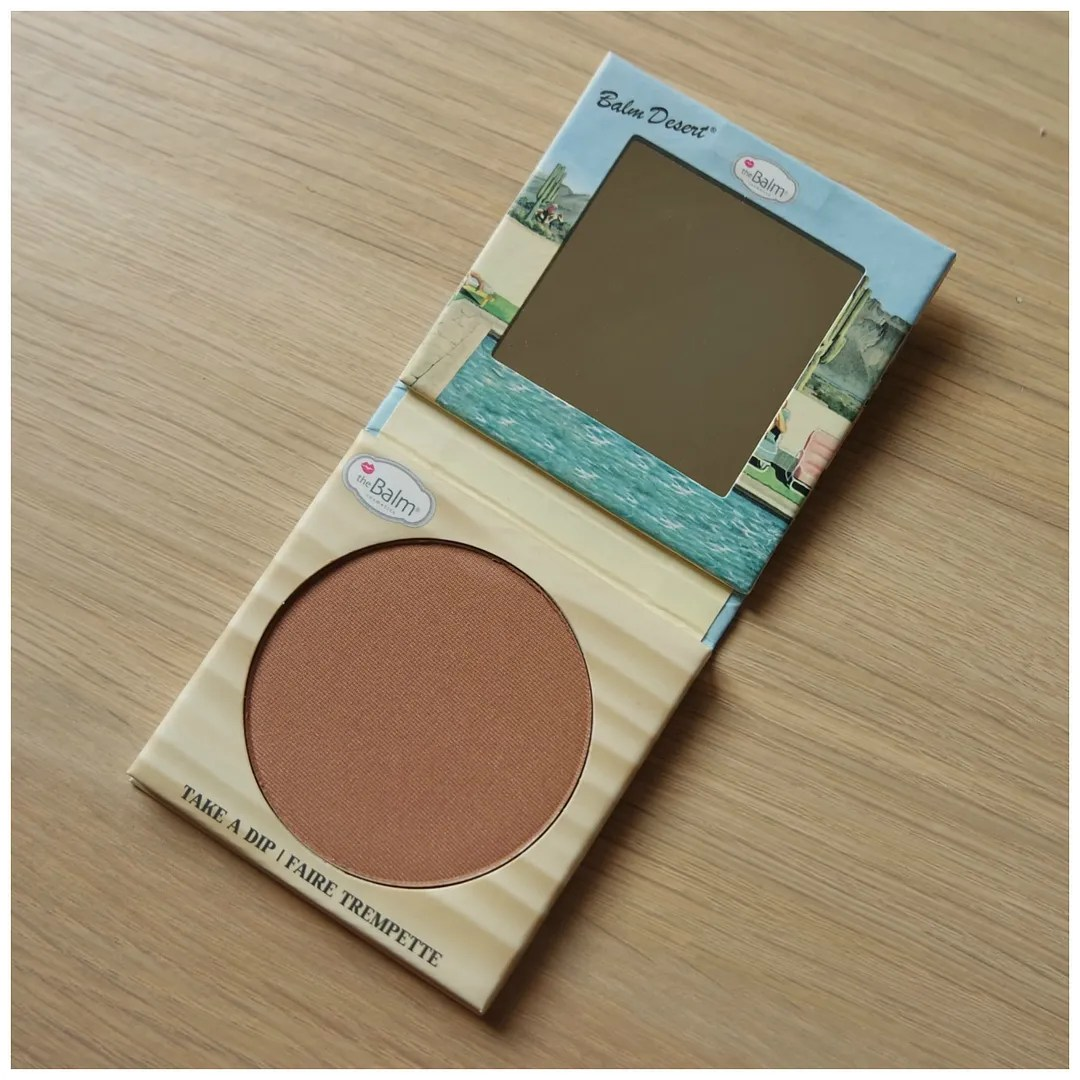 the balm balm desert bronzer blush review swatch