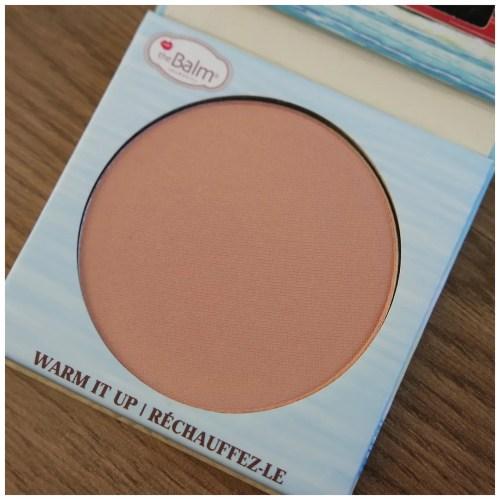 the balm balm beach blush review swatch makeup look application
