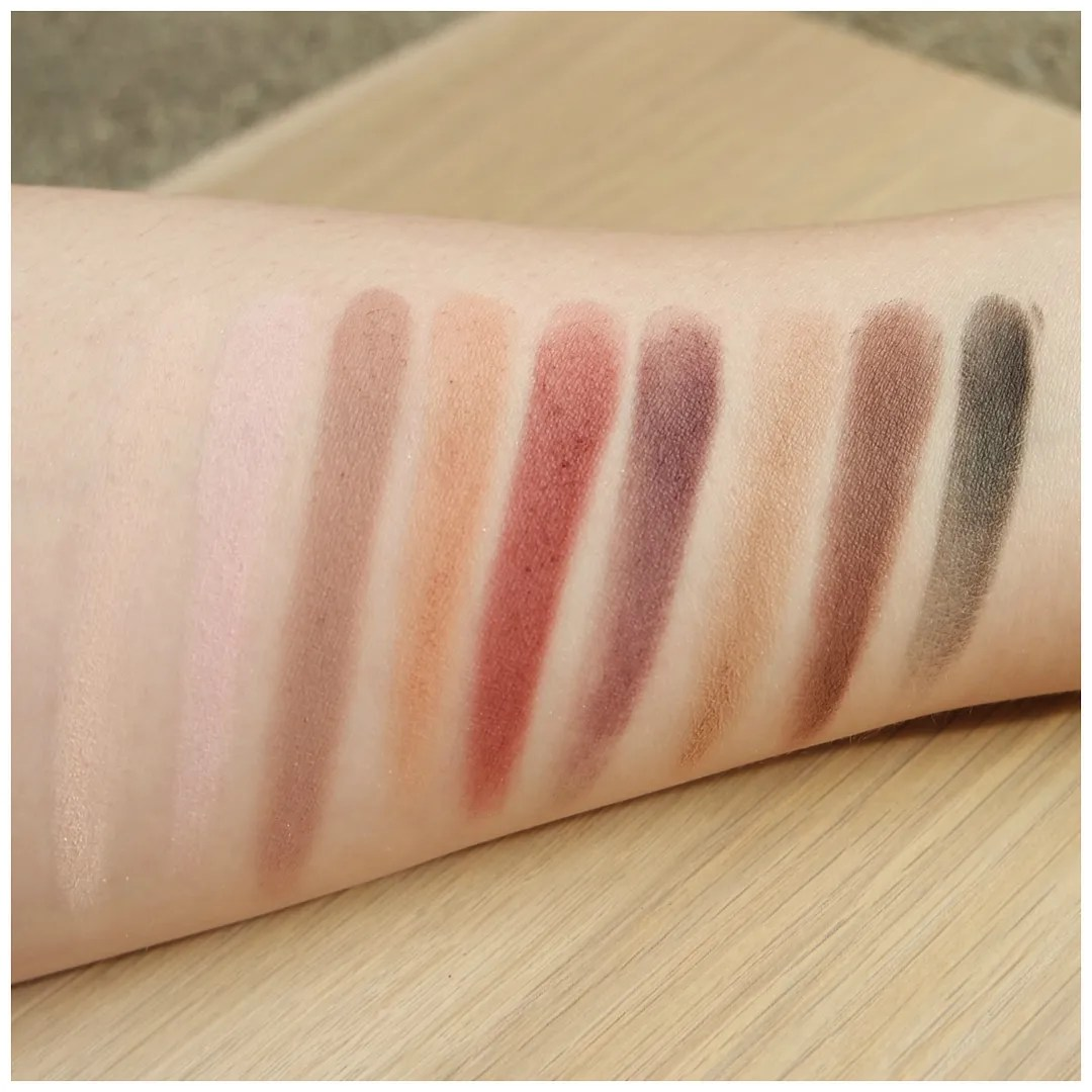 the balm meet matte matt matt(e) trimony eyeshadow palette review swatch