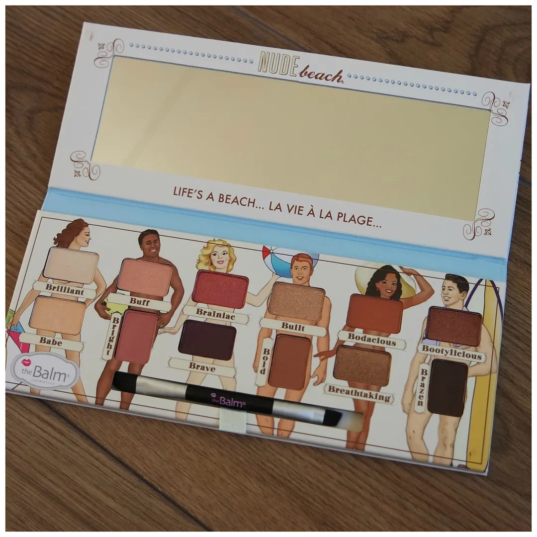 the balm nude beach eyeshadow palette