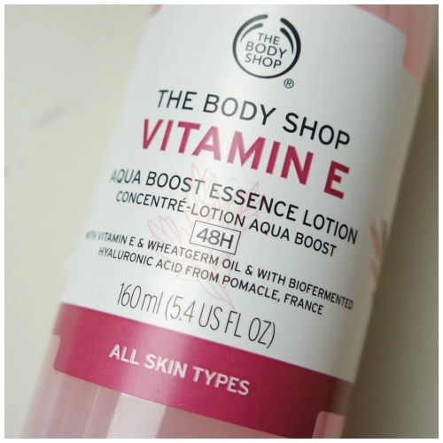 the body shop skin essence vitamin e aqua boost essence lotion review skincare swatch