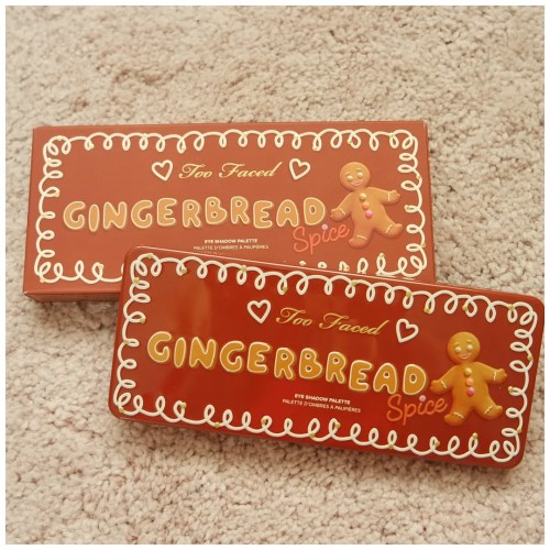 too faced gingerbread spice berry christmas limited edition eyeshadow palette review swatch looks