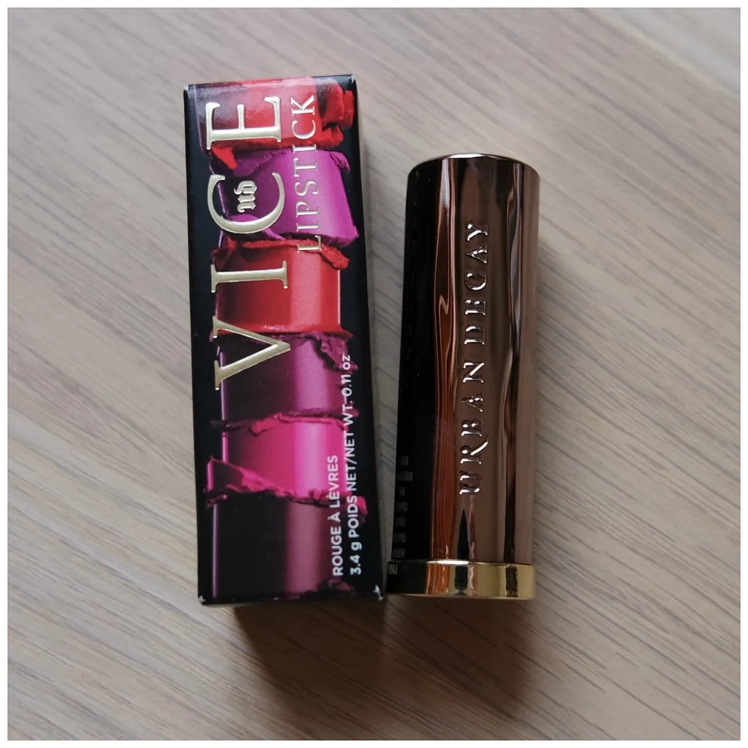urban decay vice lipstick review swatch checkmate