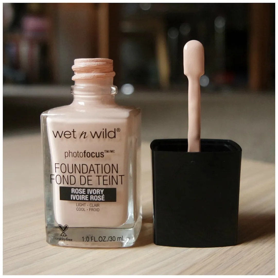 wetnwild wet n wild photofocus foundation review swatch rose ivory