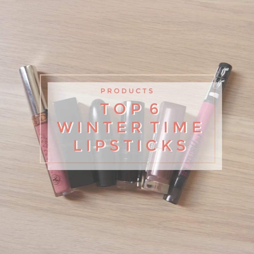 top 6 winter time lipsticks anastasia beverly hills nars mac catrice maybelline
