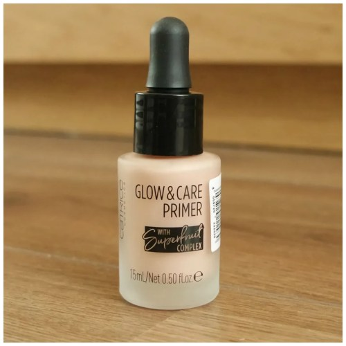 catrice glow & care primer review swatch makeup look application