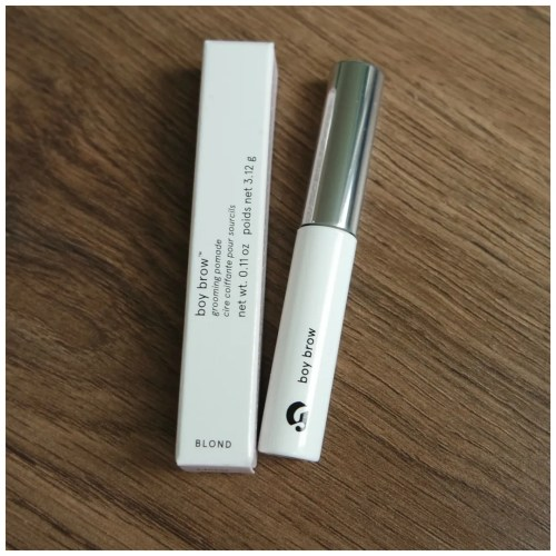 glossier boy brow blond brow gel review swatch application