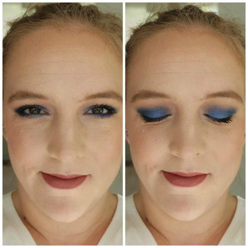 huda beauty sapphire obsessions eyeshadow palette review swatch makeup look