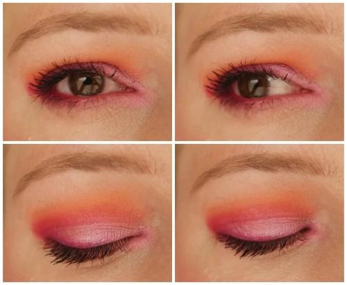 september rose slush eyeshadow palette review swatch makeup look