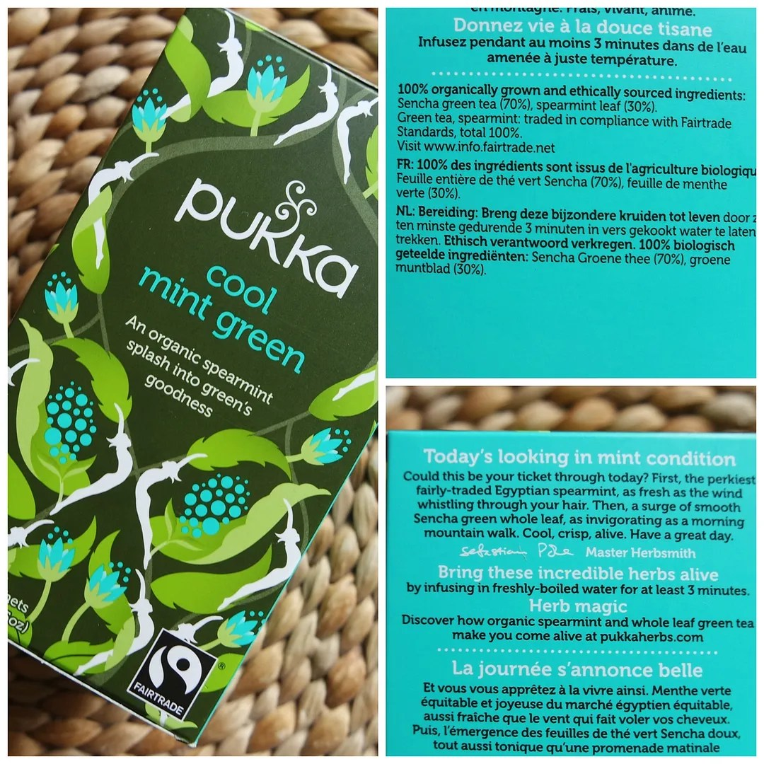 Pukka Cool Mint Green herbal tea
