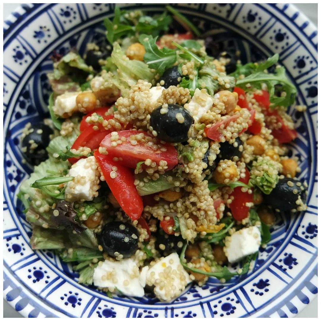 Recipe: quinoa & roasted chickpea salad