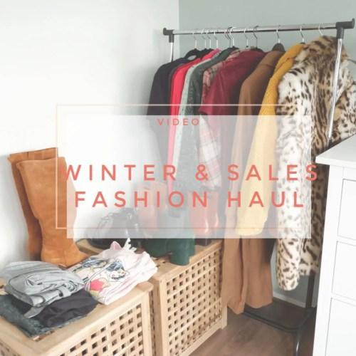 winter sale fashion haul