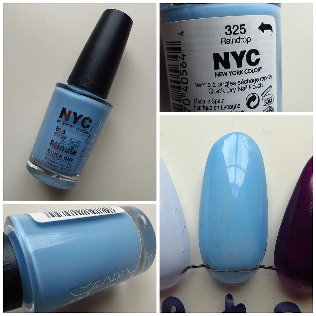 NYC In a New York Minute Quick Dry nail polish 325 Raindrop