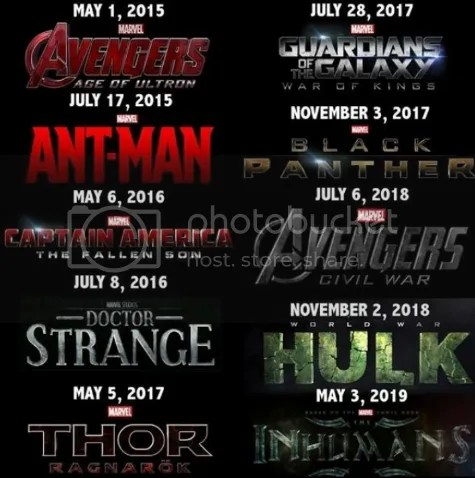 Upcoming Marvel movies and their release dates... (Comic ...