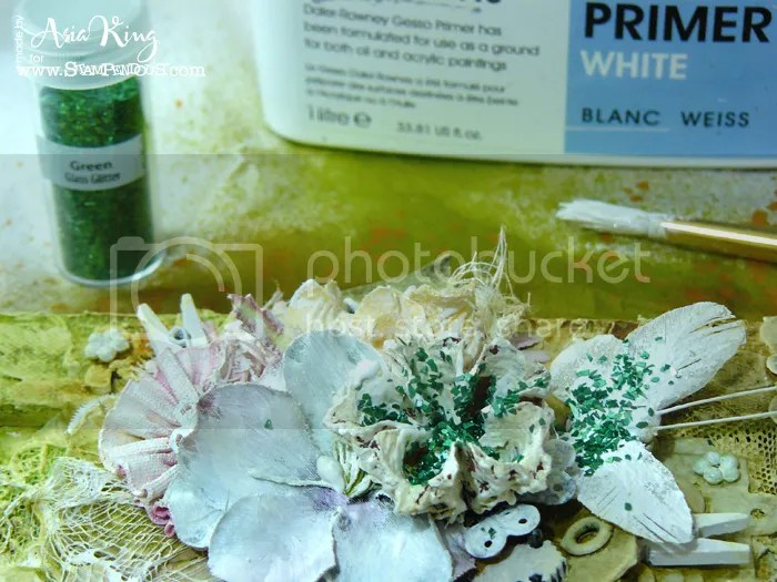 texture with Stampendous crushed glass glitter