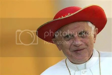 Pope Benedict in Saturno hat